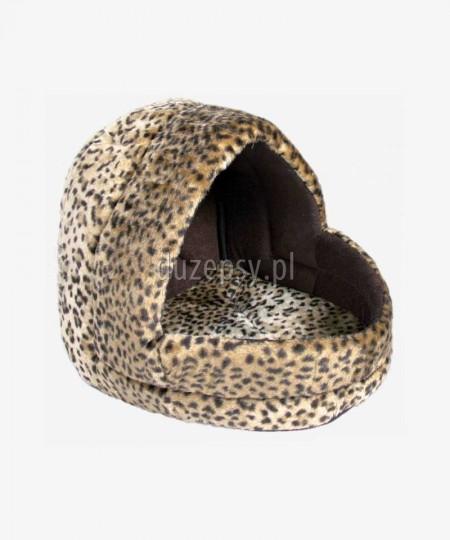 Przytulne legowisko dla małego psa domek LEO 35 x 35 x 40 cm