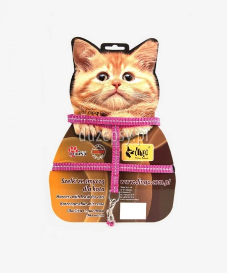 Szelki i smycz dla kota z odblaskiem ENERGY do 45 cm
