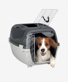 Transporter plastikowy dla małego psa Open Box CAPRI 3 do 12 kg - 40 × 38 × 61 cm