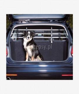 Przegroda dla psa do samochodu kratka do bagażnika aluminiowa regulowana do szer. 163 cm