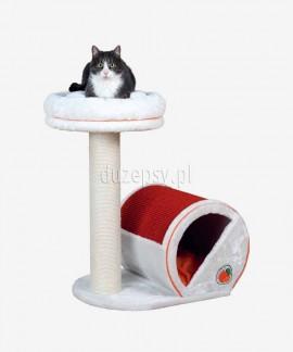 Drapak dla kota słupek z półką i domkiem FRESH FRUITS Trixie wys. 72 cm