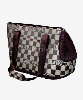 Elegancka torba transportowa dla psa lub kota CHESS z miską na podróż Trixie 21 × 25 × 45 cm