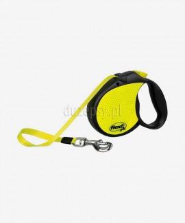 Smycz automatyczna Flexi Neon REFLEKT L taśma 5 m dla psów do 50 kg
