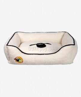 Eleganckie legowisko dla psa z pluszu sofa SHAUN THE SHEEP Trixie do 80 cm
