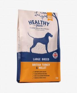 Healthy Paws indyk i proso karma dla psów dużych ras 100% naturalna 6 kg