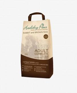 Healthy Paws Karma królik i brązowy ryż dla Psów Dorosłych 100% Naturalna 2 kg, 15 kg.