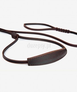 Ekskluzywna smycz ringowa dla psa ze skóry z zaplataną rączką RINGÓWKA 10 mm x 250 cm