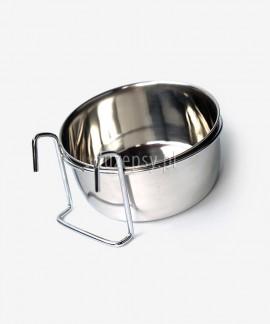 Miska metalowa z zaczepem dla psa