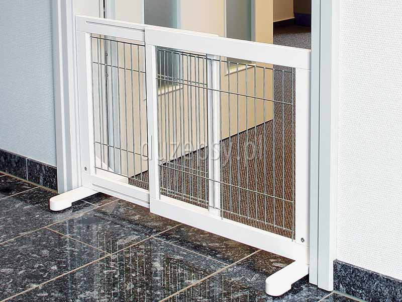 Barierka zabezpieczająca drzwi lub schody dla psów małych i średnich Trixie. Bramka zabezpieczająca rozporowa barierka dla dużego psa Trixie. Bramka zabezpieczająca dla psa, rozporowa barierka dla dużego psa, barierki ochronne dla psa, barierka zabezpieczająca na schody, bramki dla psa Trixie, bramka na schody bez wiercenia, sklep zoologiczny, akcesoria dla psów, duzepsy.pll