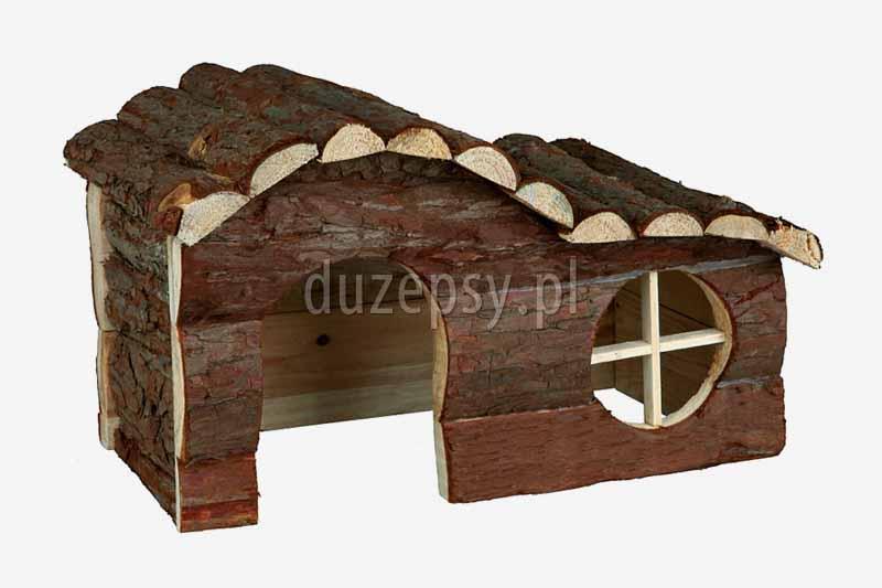 domek drewniany dla gryzoni Trixie, domki dla małych zwierząt, domek dla chomika, domek dla królika, domek dla świnki morskiej; domek dla myszki, akcesoria dla gryzoni, sklep zoologiczny duzepsy.pl;