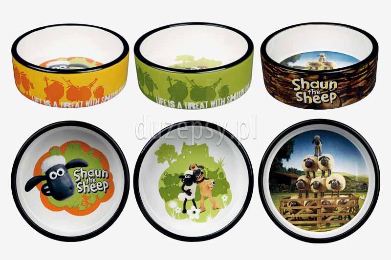 Miska ceramiczna dla psa SHAUN THE SHEEP Trixie. Miski ceramiczne dla psów. Miski porcelanowe dla psa. MIska porcelanowa dla psa. Ładne miski dla psów oferuje sklep zoologiczny duzepsy.pl