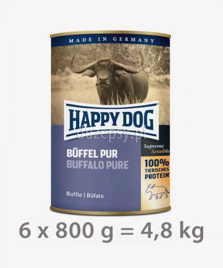 Happy Dog 100% Bawół mokra karma dla psów BUFFEL PUR 4,8 kg