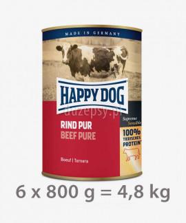 Happy Dog 100% Wołowina mokra karma dla psów RIND PUR 800 g