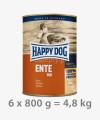 Happy Dog 100% Kaczka mokra karma dla psów ENTE PUR 800 g