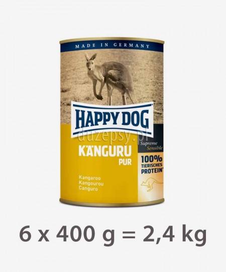 Happy Dog 100% Kangur mokra karma dla psów KANGURU PUR 2,4 kg