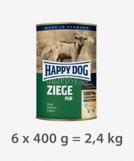 Happy Dog 100% Koza mokra karma dla psów ZIEGE PUR 6 x 400 g