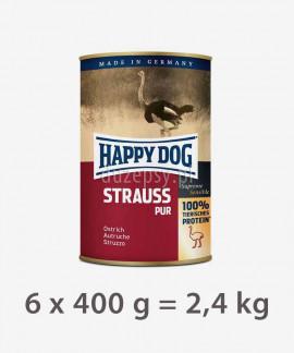 Happy Dog 100% Struś mokra karma dla psów STRAUSS PUR 2,4 kg