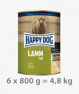 Happy Dog 100% Jagnięcina mokra karma dla psów LAMM PUR 800 g