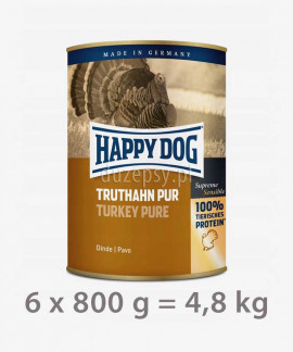Happy Dog 100% Indyk mokra karma dla psa TRUTHAHN PUR 800 g