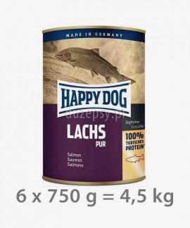 Happy Dog 100% Łosoś mokra karma dla psa LACHS PUR 750 g