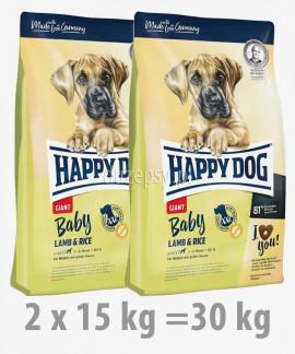 Happy Dog Baby Giant Lamb & Rice karma dla szczeniąt bardzo dużych ras 2 x 15 kg
