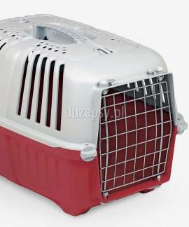 Transporter dla kota plastikowy Pratiko 2 - czerwony