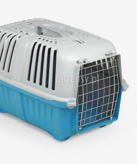 Transporter dla kota plastikowy Pratiko 2 - niebieski