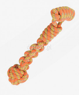 Piłka aportowa dla psa z linki bawełnianej Denta Fun Trixie 38 cm