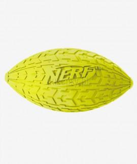 Piłka dla psa średniego rugby piszcząca z bieżnikiem NERF DOG