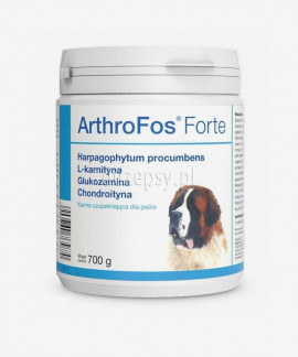Preparat na stawy dla psa z glukozaminą, chondroityną, L-karnityną ArthroFos Forte 700 g