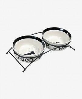 Miski ceramiczne dla psa na podwyższeniu Trixie EAT ON FEET ø 13-25 cm