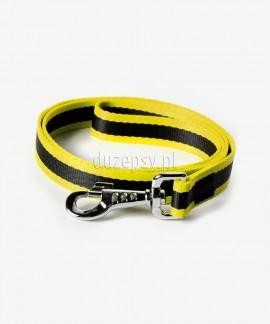 Smycz dla psa z taśmy DWUKOLOROWA 10-25 mm x 120-130 cm