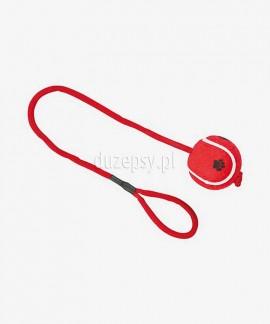 Piłka tenisowa dla psa z uchwytem z linki ø 6 cm/50 cm