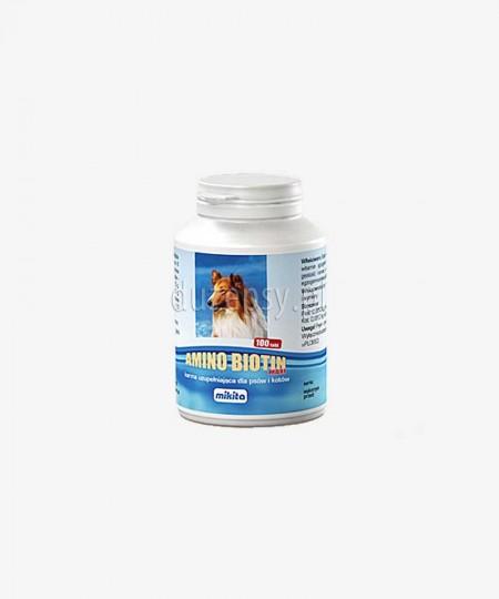 Amino Biotin Maxi MIKITA biotyna witaminy aminokwasy dla psów, 100 tabl