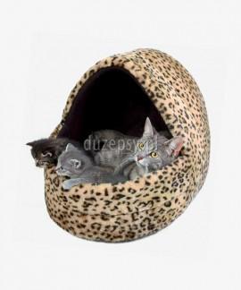 Przytulne legowisko dla kota domek LEO 35 x 35 x 40 cm