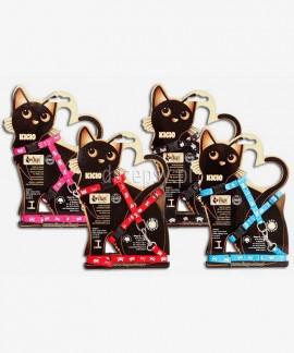 Zestaw szelki i smycz dla małego kota KICIO