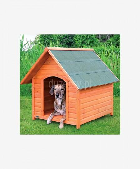 Buda drewniana dla dużego psa NATURA XL - 96 × 105 × 112 cm
