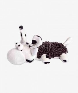 Krowa pluszowa zabawka dla psów piszcząca DINGO 20 cm