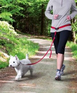Pas do biegania z psem i smycz z amortyzatorem TRIXIE S/M