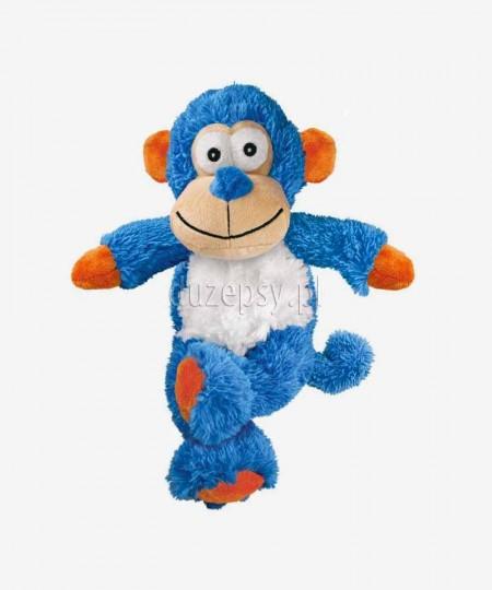 Pluszowa zabawka dla psów ze sznurem i piszczałką Kong Cross Knots Małpa 22 cm