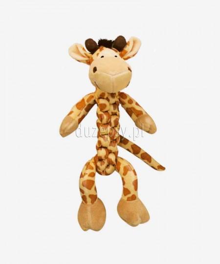Pluszowa zabawka dla psów z piszczałką Kong BraidZ Żyrafa