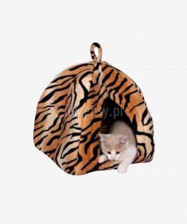 Przytulne legowisko dla kota domek NERO 35 x 40 x 35 cm