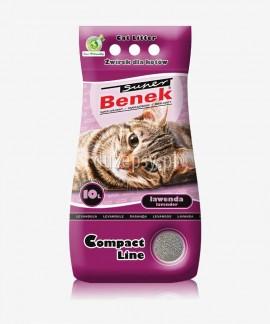 Super Benek Compact Lawenda żwirek dla kotów zapachowy zbrylający