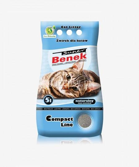 Super Benek Compact Naturalny żwirek dla kotów zbrylający