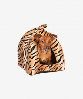 Przytulne legowisko dla małego psa domek NERO 35 × 40 × 35 cm