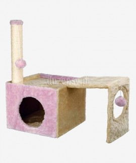 Drapak dla kota słupek z sizalu z domkiem IVA Trixie wys. 56 cm