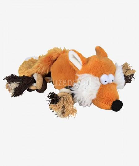 Pluszak dla psa piszcząca zabawka z linką LISEK TRIXIE 34 cm