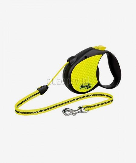 Smycz automatyczna Flexi Neon REFLEKT M linka 5 m dla psów do 20 kg