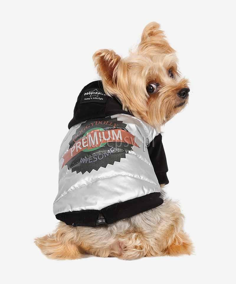 Ubranko dla psa na zimę kurtka z kapturem PREMIUM DoggyDolly