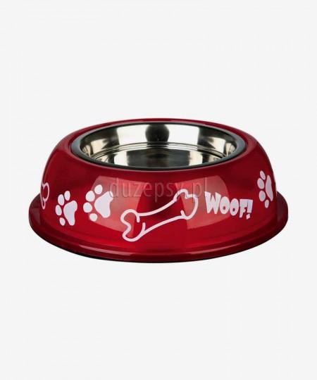 Miska dla psa ze stali nierdzewnej w obudowie plastikowej WOOF Trixie